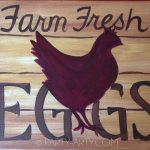 C SIGNS Farm fresh eggs