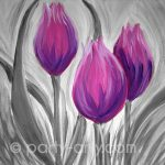 c FLOWERS – PURPLE TULIPS BW copy