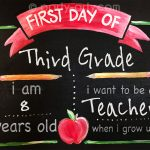 c first day of school chalkboard