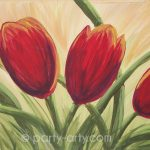 c red tulips
