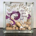 wine flies glass block
