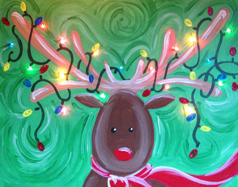REINDEER WITH LIGHTS - PRIVATE EVENT - WHS STAFF PAINT PARTY - DEC 5 - SILVER RUN