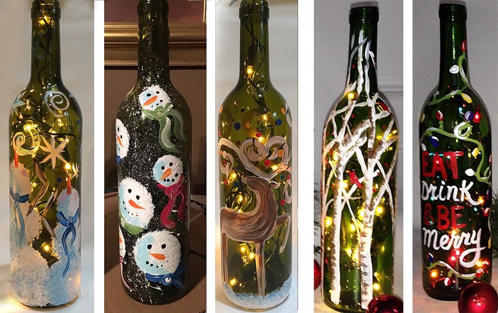WINE BOTTLES WITH LIGHTS - DECEMBER 9  - 6:30PM - REGENCY WINE BAR