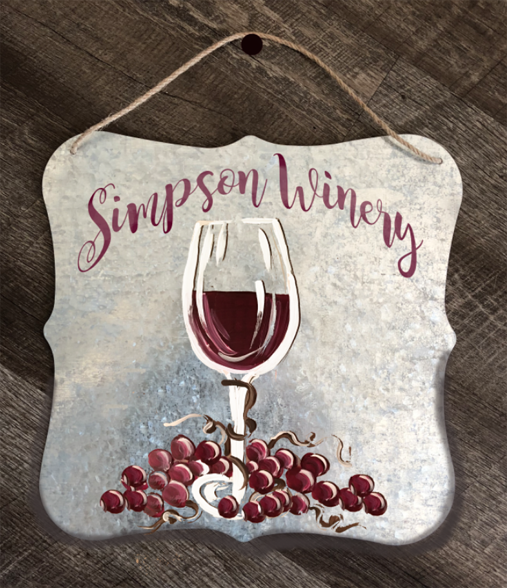WINERY METAL SIGN OCT 10 - 6:30PM - REGENCY WINE BAR