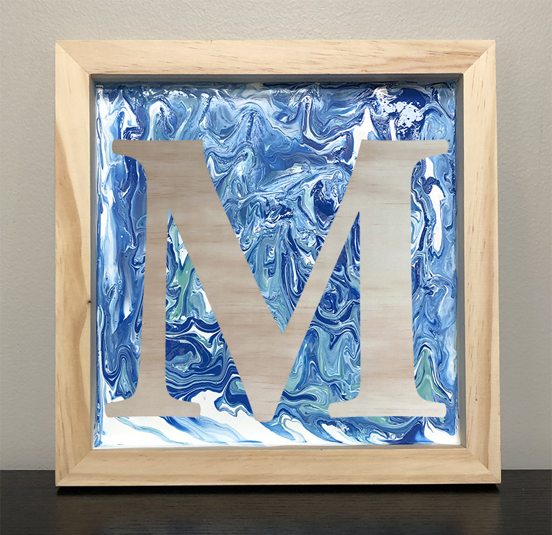 SOLD OUT - MONOGRAM POUR PAINTING - APRIL 10 - 6PM - NAUTI VINE WINERY