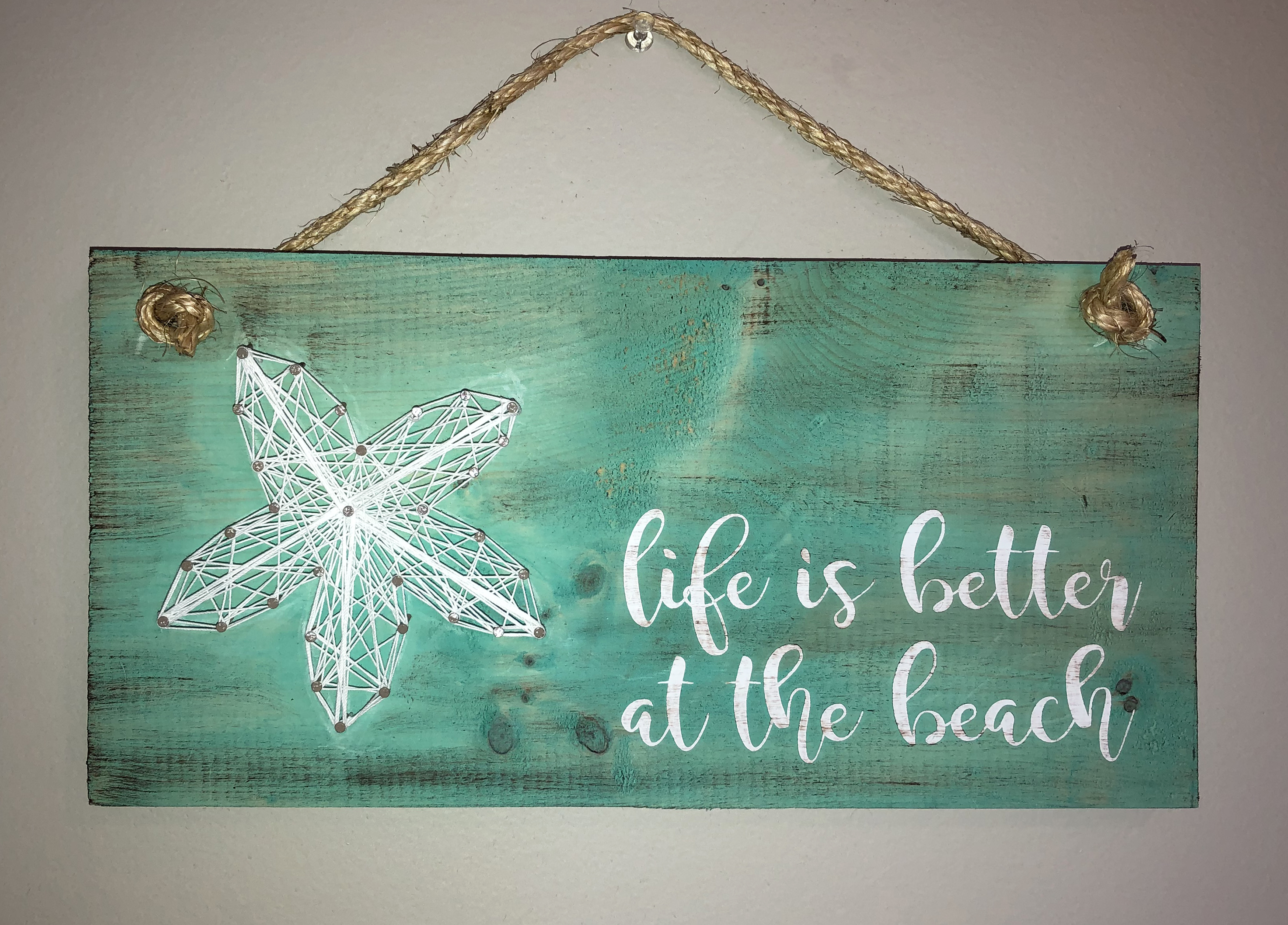 SOLD OUT - BEACH STRING ART ON WOOD - JUNE 26 - 6PM - NAUTI VINE WINERY