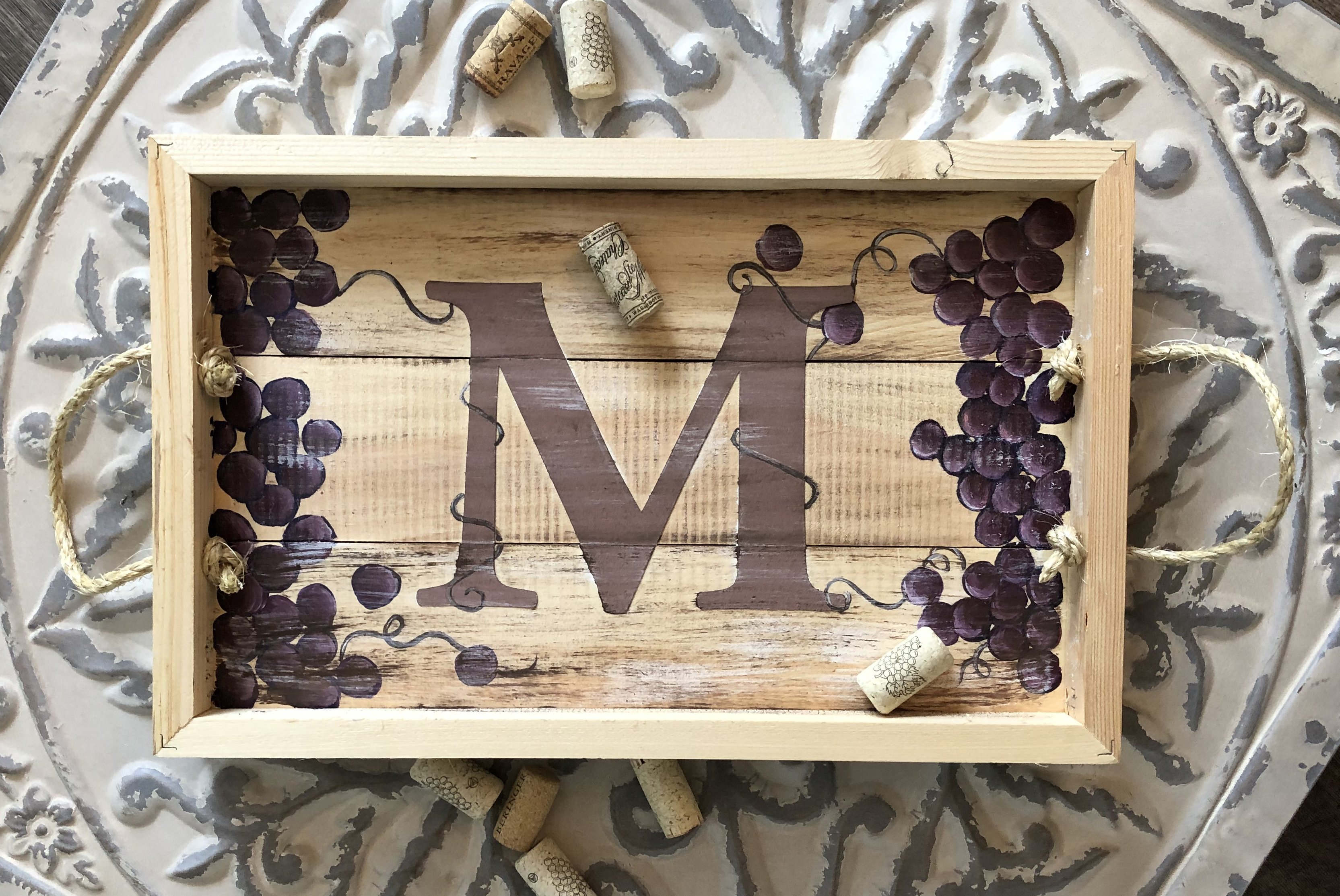 MONOGRAM WOODEN TRAY - SEPT 12 - 6:30PM - REGENCY WINE BAR