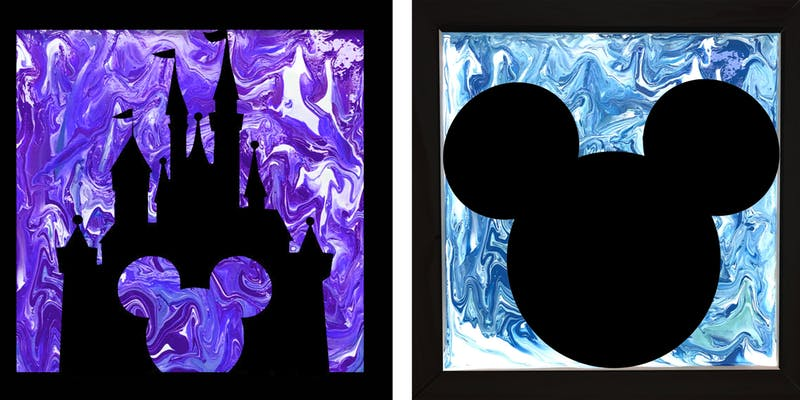 MAGIC KINGDOM POUR PAINTING - your choice of design and color - APRIL 18 - SILVER RUN