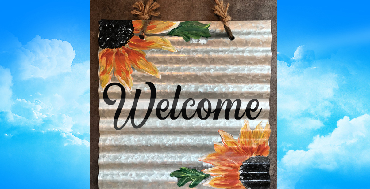 Corrugated Metal Sunflower Sign - AUGUST 22 - 6:30PM - Brewster Sugar-Creek Twp. Historical Society
