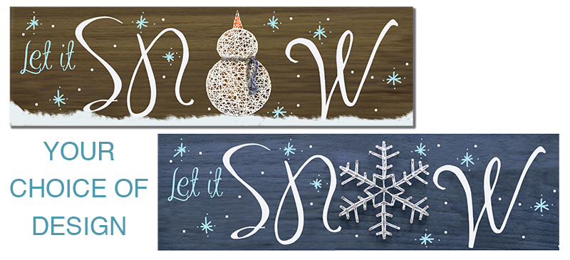 SOLD OUT - CHRISTMAS IN JULY - SNOWMAN STRING ART  - JULY 24 - 6PM - NAUTI VINE WINERY