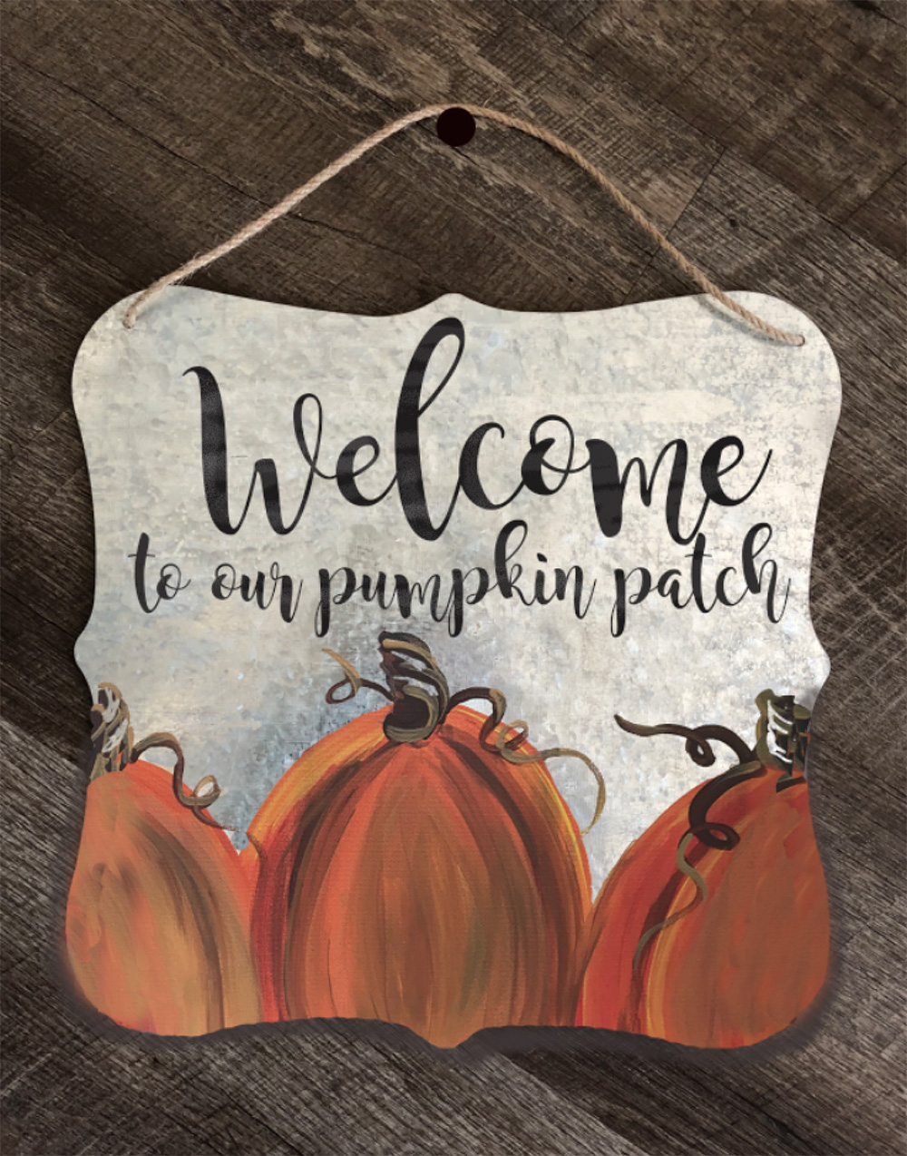 METAL WELCOME SIGN - OCT 10 - 6:30PM - REGENCY WINE BAR