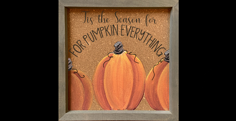 FRAMED PUMPKIN EVERYTHING ON CORK - SEPT 18 - 6PM - NAUTI VINE WINERY
