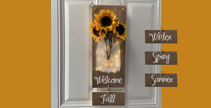 INTERCHANGEABLE SEASON SIGN WITH LIGHTS - SEPT 19 - SILVER RUN