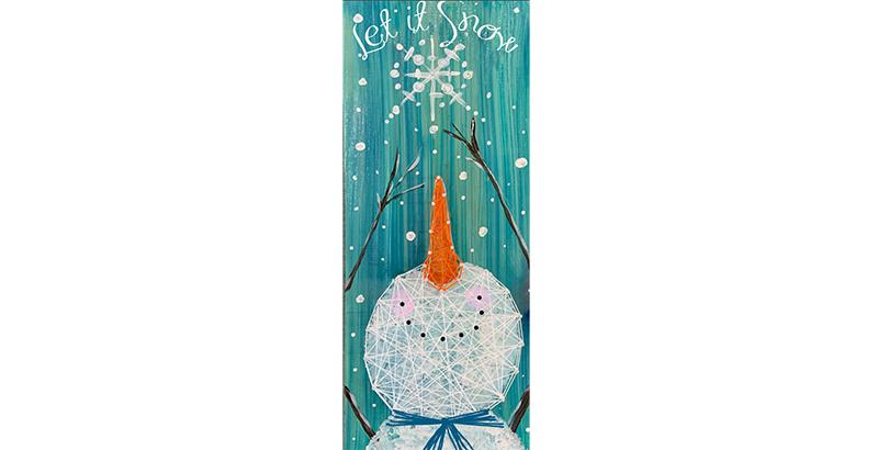 SNOWMAN STRING ART - NOV 27 - 6PM - NAUTI VINE WINERY