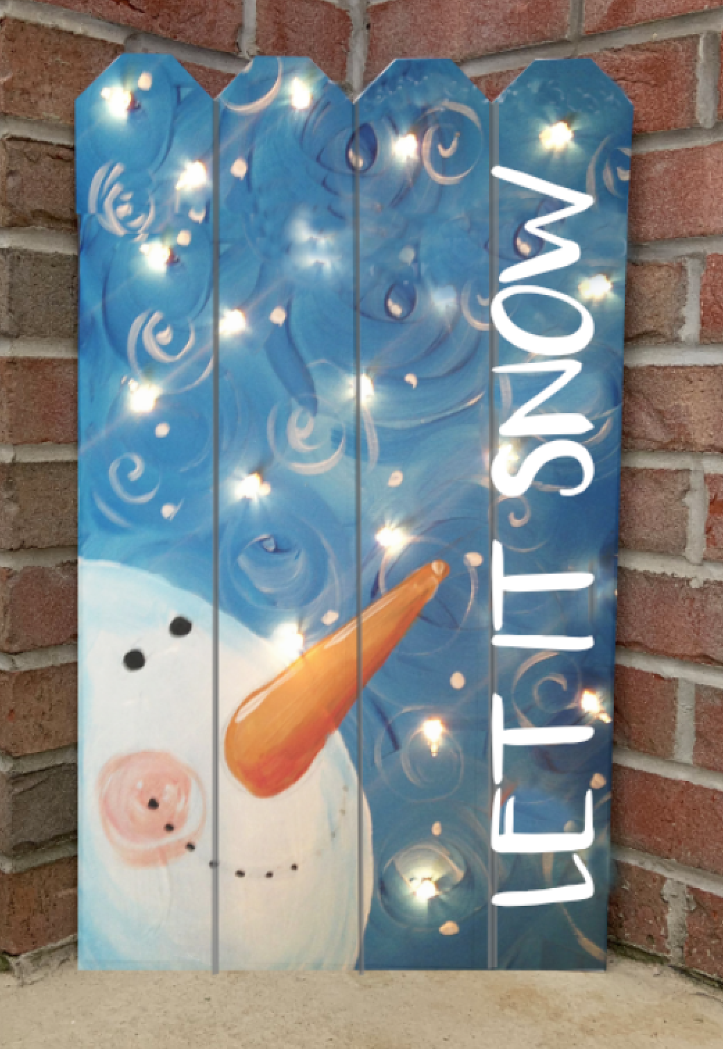 SNOWMAN PICKET FENCE WITH LIGHTS- SEPT 26 - 6:30 PM -  FILIA CELLARS