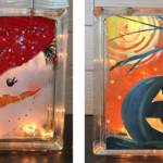 SOLD OUT - GLASS BLOCK 2 SIDED - OCT 9 - 6PM - NAUTI VINE WINERY