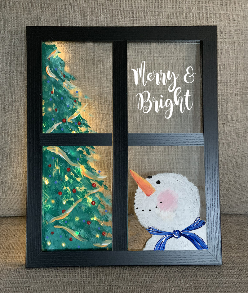 SOLD OUT - SNOWMAN IN WINDOW WITH LIGHTS - NOV 20 - 6PM - NAUTI VINE WINERY