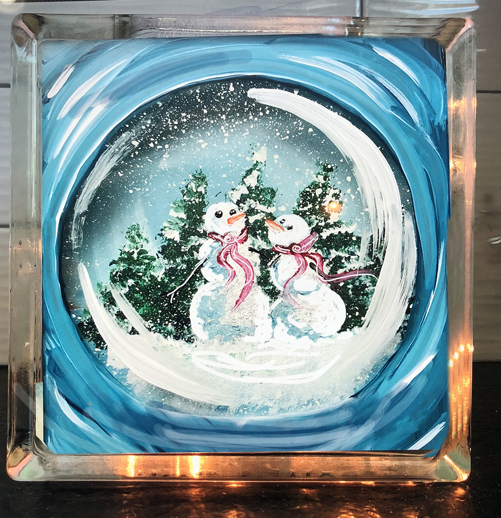 SNOW GLOBE GLASS BLOCK - DEC 11 - 6PM - NAUTI VINE WINERY