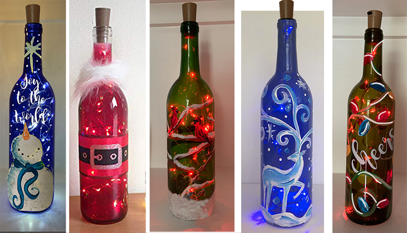 WINE BOTTLE LAMPS - DEC 4 - 6PM - NAUTI VINE WINERY