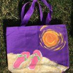 beach bag flip flops
