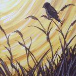 c BIRDS – GOLDEN SOLHOUETTE