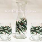 c Christmas Carafe and glasses