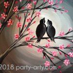 c cherry blossom birds