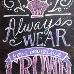 c crown chalkboard
