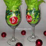 c initial ornament glasses