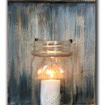 c mason jar candle pallet