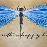DIY STRING ART - Dragonfly
