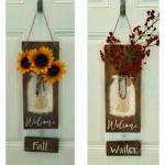 DIY STRING ART - Welcome Mason Jar